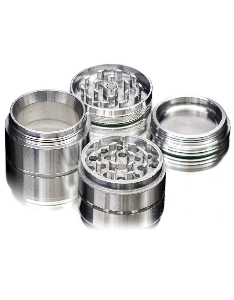 "4 Piece 2.0"" BLACK Anodized Aluminum Grinder by PIRANHA"