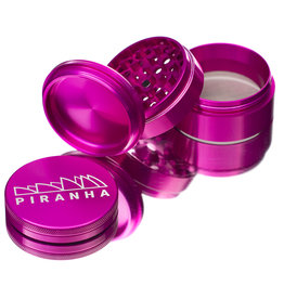 "4 Piece 2.5"" PINK Anodized Aluminum Grinder by PIRANHA"