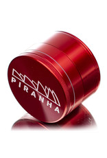 "4 Piece 2.5"" RED Anodized Aluminum Grinder by PIRANHA"