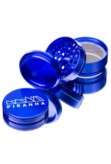"4 Piece 2.5"" BLUE Anodized Aluminum Grinder by PIRANHA"