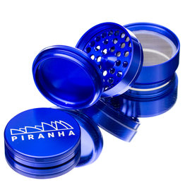 "4 Piece 2.5"" BLUE Anodized Aluminum Grinder by PIRANHA"