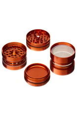 "4 Piece 2.5"" ORANGE Anodized Aluminum Grinder by PIRANHA"
