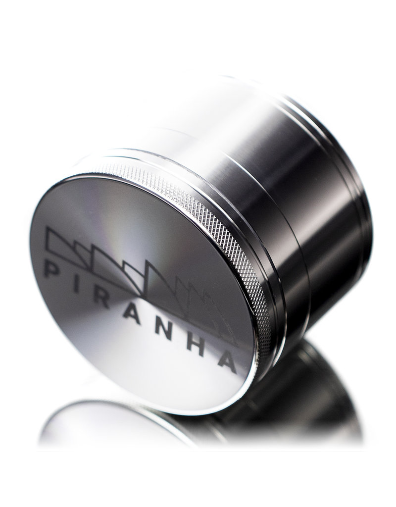 "4 Piece 3.0"" SILVER Anodized Aluminum Grinder by PIRANHA"
