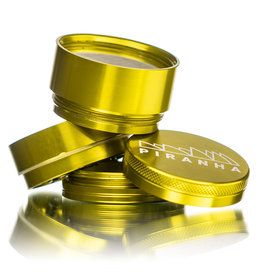 "4 Piece 2.0"" GOLD Anodized Aluminum Grinder by PIRANHA"