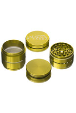 """4 Piece 2.5"""" GOLD Anodized Aluminum Grinder by PIRANHA"""