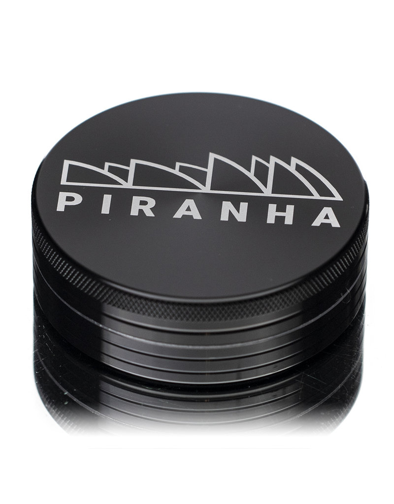"2 Piece 2.5"" BLACK Anodized Aluminum Grinder by PIRANHA"