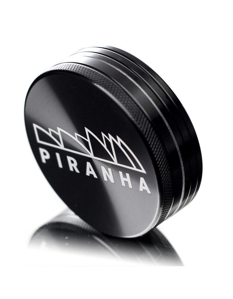 "2 Piece 3.0"" BLACK Anodized Aluminum Grinder by PIRANHA"