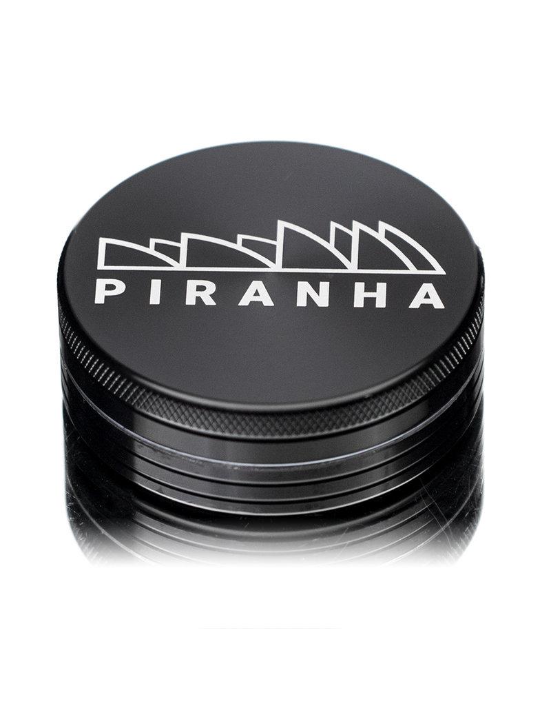 "2 Piece 3.0"" BLACK Anodized Aluminum Grinder by PIRANHA"