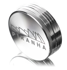 "2 Piece 3.0"" SILVER Anodized Aluminum Grinder by PIRANHA"
