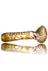 "Joe Palmero 5"" Carved Image Dry Pipe 'KENNY'S MOON' by Joe Palmero (B)"