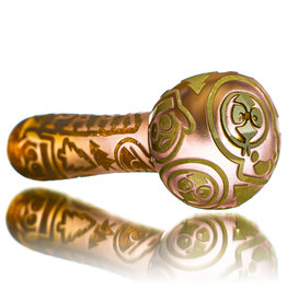 "Joe Palmero 5"" Carved Image Dry Pipe 'KENNY'S MOON' by Joe Palmero (B)"