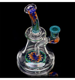 "Jemmie Bandy 14mm 6.5"" Dab Rig Worked Banger Hanger (O) by Jemmie Bandy"