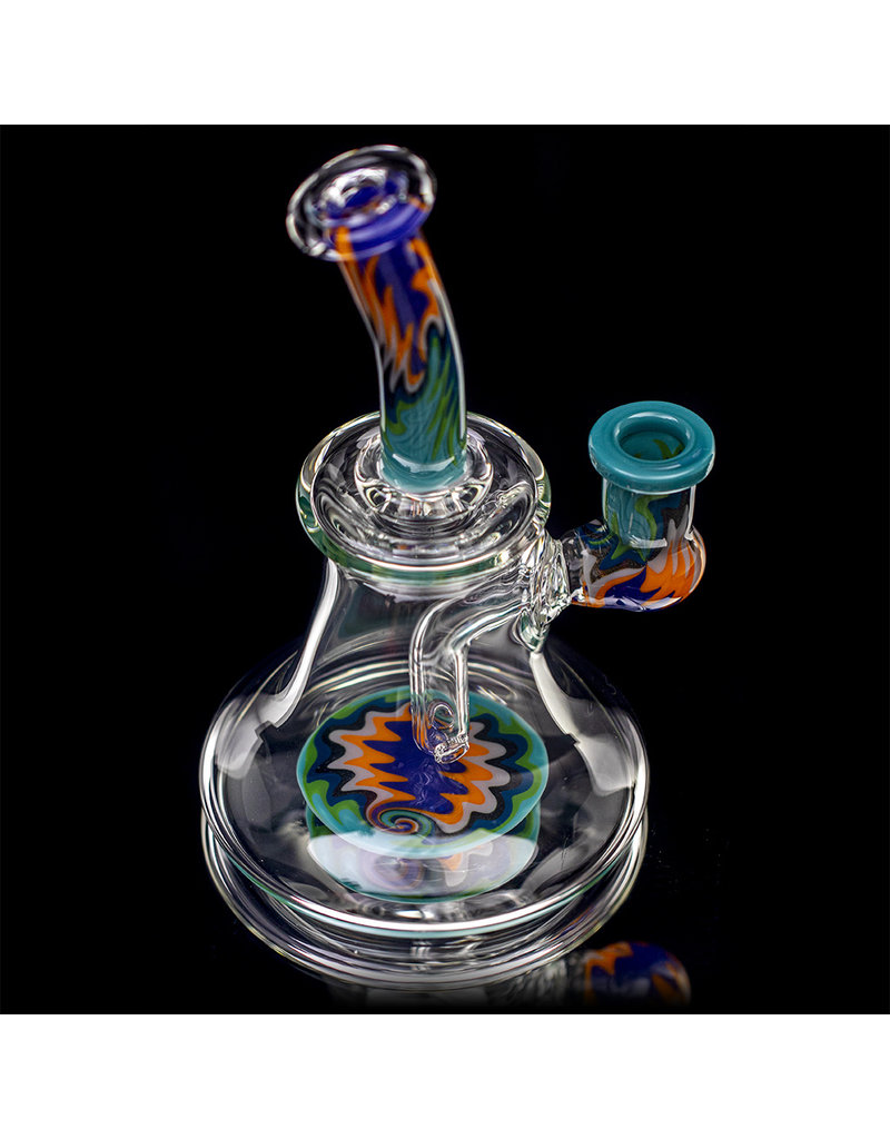 """Jemmie Bandy 14mm 6.5"""" Dab Rig Worked Banger Hanger (O) by Jemmie Bandy"""