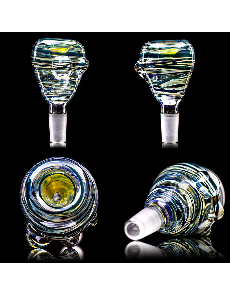 """15"""" 14mm Goldie Hybrid Water Bong with Matching Slide by Heady Old School Glass (B)"""