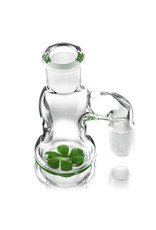 Witch DR 18mm 90 Degree SHAMROCK accented Dry Catcher by Witch DR Studio