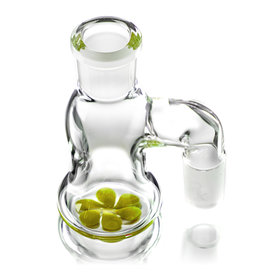 Witch DR 18mm 90 Degree CHARTREUSE accented Dry Catcher by Witch DR Studio