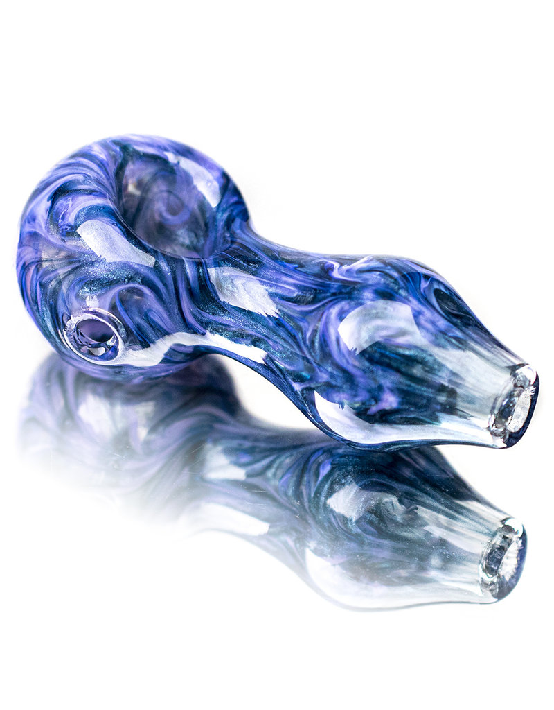 """4"""" LILAC SWIRL Glass Dry pipe by California Glass"""
