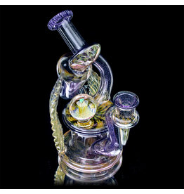 """Evan Cals 14mm 6"""" Dab Rig Full Color Spiral Drain Recycler by Evan Cals A"""