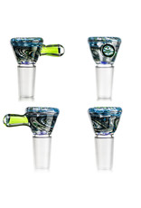 Fidget Glass 14mm Bong Bowl Slide with 3 Hole Glass Screen and Millie Chip Handle (G) by Witch DR