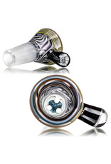 Fidget Glass 14mm Bong Bowl Slide with 3 Hole Glass Screen and Millie Chip Handle (H) by Witch DR
