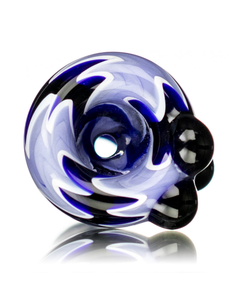 18mm Wig Wag Bong Bowl Slide (B) by Gladstone Glass