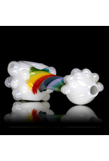"4"" RAINBOW CLOUD Glass Dry pipe by Jellyfish Glass"