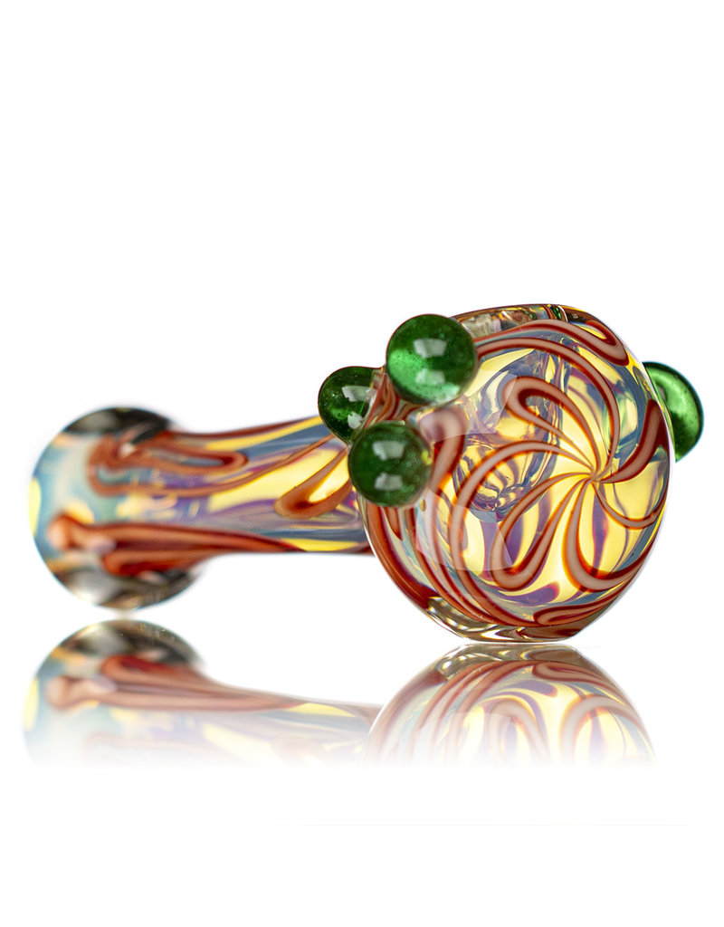 "Hitwell Glass 5"" Fume Accented Inside Out Large Glass Dry Pipe by Hitwell Glass"