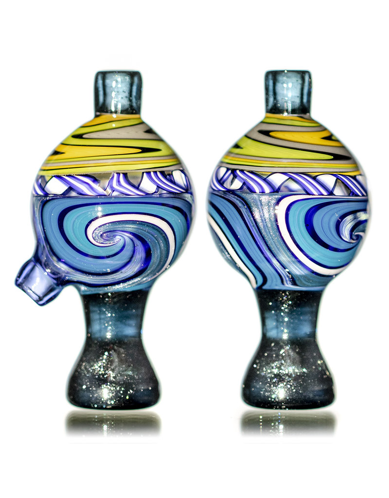 Keith Engelmann 25mm Multi Section Glass Bubble Cap i by Keith Engelmann