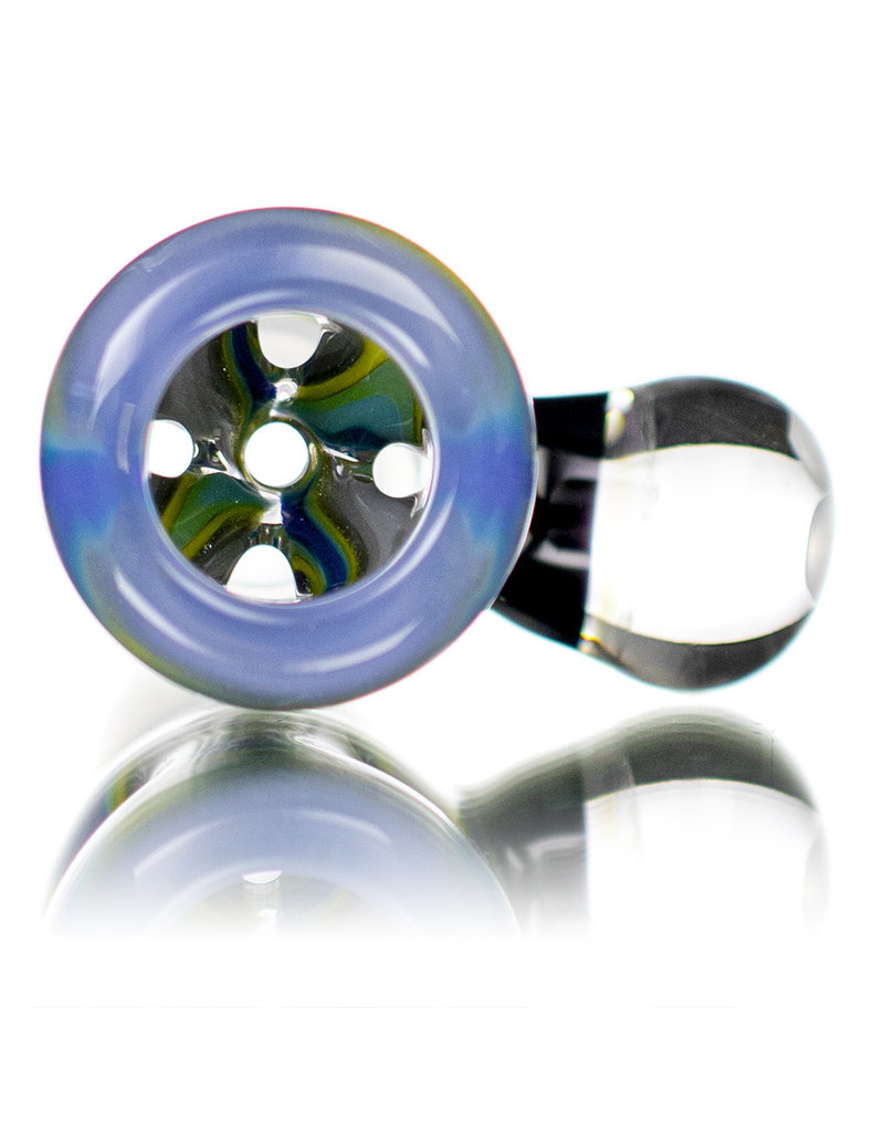Black Tuna Glass 18mm Bong Bowl Slide with Millie Handle and 5-Hole glass screen by Black Tuna (G)
