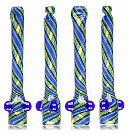 """Gurk 4"""" Fully Worked Lined Fume Chillum B by GURK Glass"""
