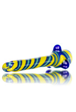 """Gurk 4"""" Fully Worked Lined Glass Chillum G by GURK Glass"""