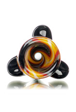 """Gurk 4"""" Fully Worked Dichro Accented Lined Glass Chillum A by GURK Glass"""