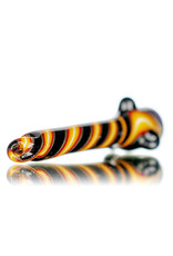 "Gurk 4"" Fully Worked Dichro Accented Lined Glass Chillum A by GURK Glass"