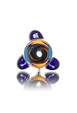 """Gurk 4"""" Fully Worked Dichro Accented Lined Glass Chillum E by GURK Glass"""