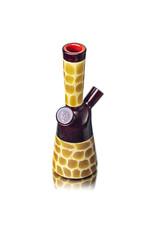 "6"" 10mm Dab Rig Zoo Tube Pomegranate / Red Crayon by Matt Robertson"