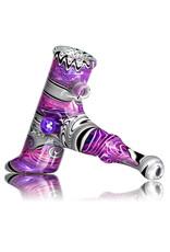 """Dan Longden 5"""" Glass Pipe DRY XL Fully Worked Hammer (C) by Dan Longden"""