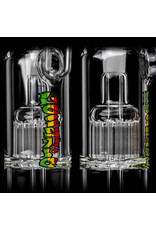 """Leisure 12"""" 14mm Water Bong Double Bubs with  removable downstem and matching slide by Leisure Glass"""
