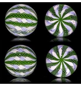 Glass Zanfirico Slurper Marble PERIWINKLE FOREST by Harold Cooney