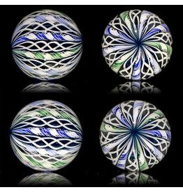 Glass Zanfirico Slurper Marble MIDNIGHT FOREST by Harold Cooney