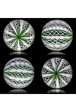 Glass Zanfirico Slurper Marble FOREST by Harold Cooney