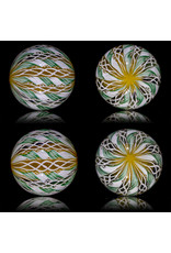 Glass Zanfirico Slurper Marble YELLOW CRAYON FOREST by Harold Cooney