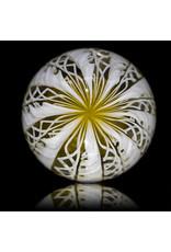 Glass Zanfirico Slurper Marble YELLOW CRAYON by Harold Cooney