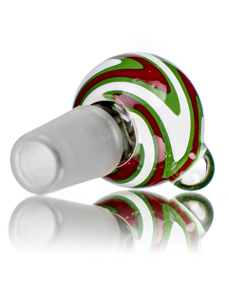 18mm Glass Bong Bowl Slide Switchback (A) by MO Glass