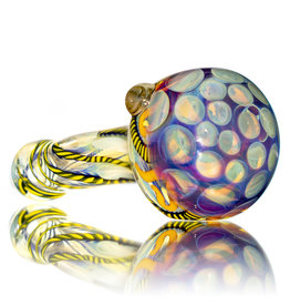 """5"""" Glass Dry Pipe Inside Out Lined Fume (A) Honeycomb Cap by EKG Glass"""