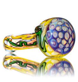 "5"" Glass Dry Pipe Inside Out Lined Fume (C) Honeycomb Cap by EKG Glass"