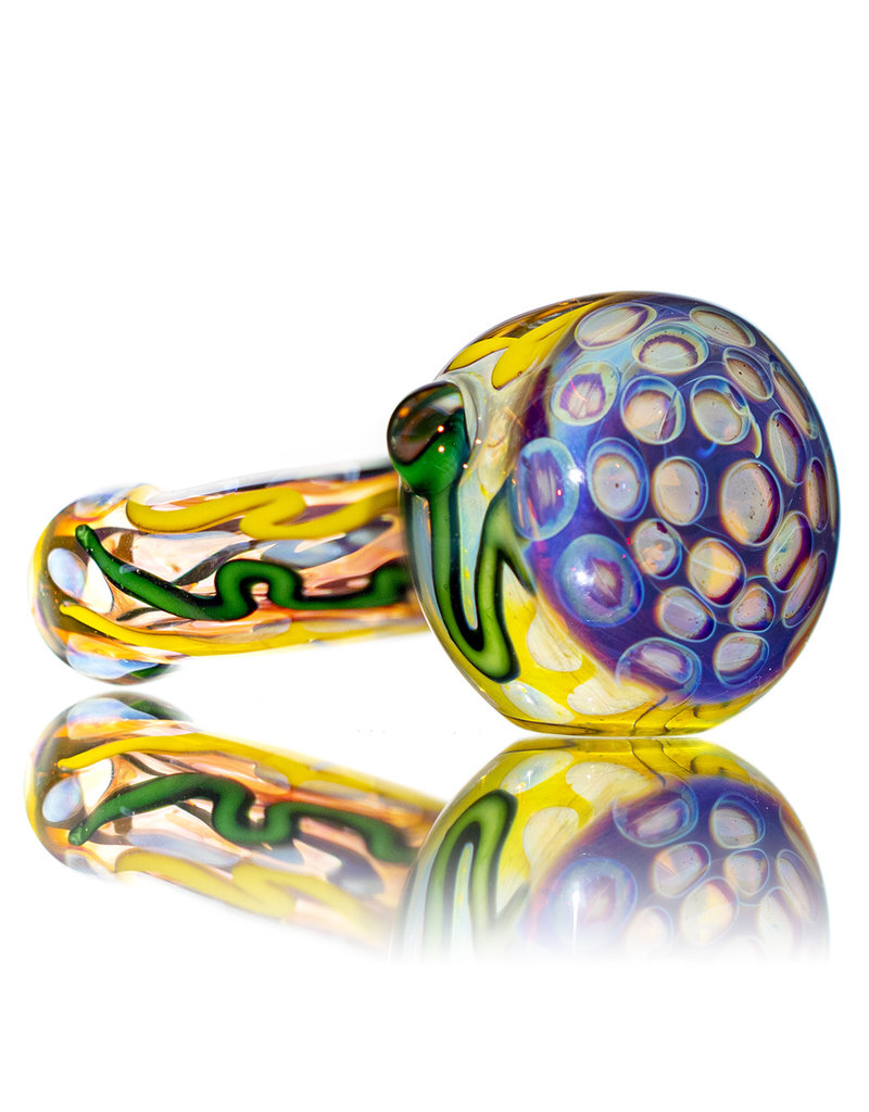 """5"""" Glass Dry Pipe Inside Out Lined Fume (C) Honeycomb Cap by EKG Glass"""