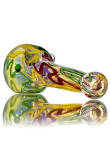 """5"""" Glass Dry Pipe Inside Out Lined Fume (B) Honeycomb Cap by EKG Glass"""