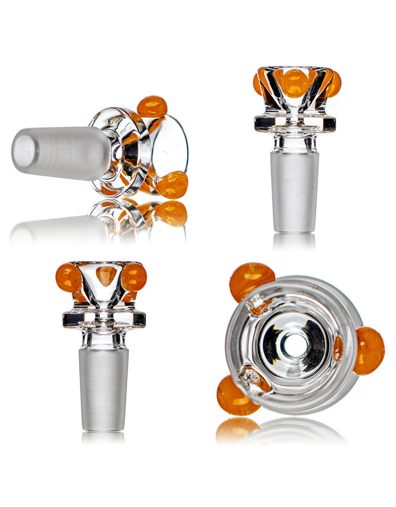 """HVY Glass 14mm 12"""" 50x5mm ORANGE Beaker Bong with downstem and slide by HVY Glass (A)"""