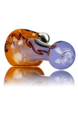 "5"" Glass Dry Pipe Frit with Dichro Glass Accents (K) by BH Glass"
