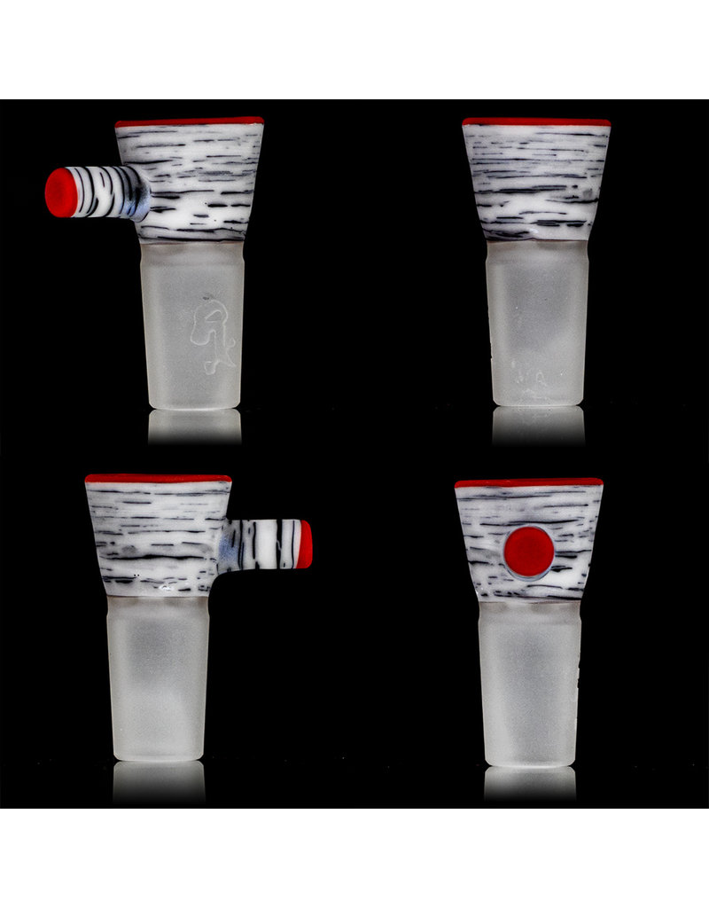 Witch DR 18mm Frosted Glass Bong Bowl Slide Engelmann Betula Birch CHERRY accents SK